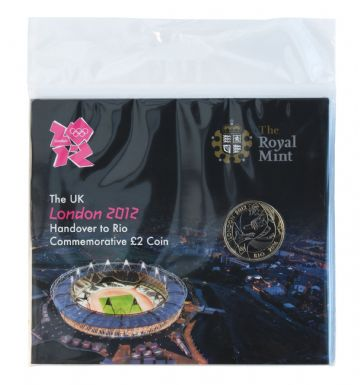 2012 £2 Hand Over to Rio Brilliant Uncirculated pack